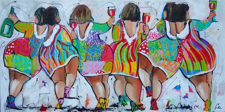 Vrolijk schilderij Feestje : Vrolijke schilderijen : Pinterest