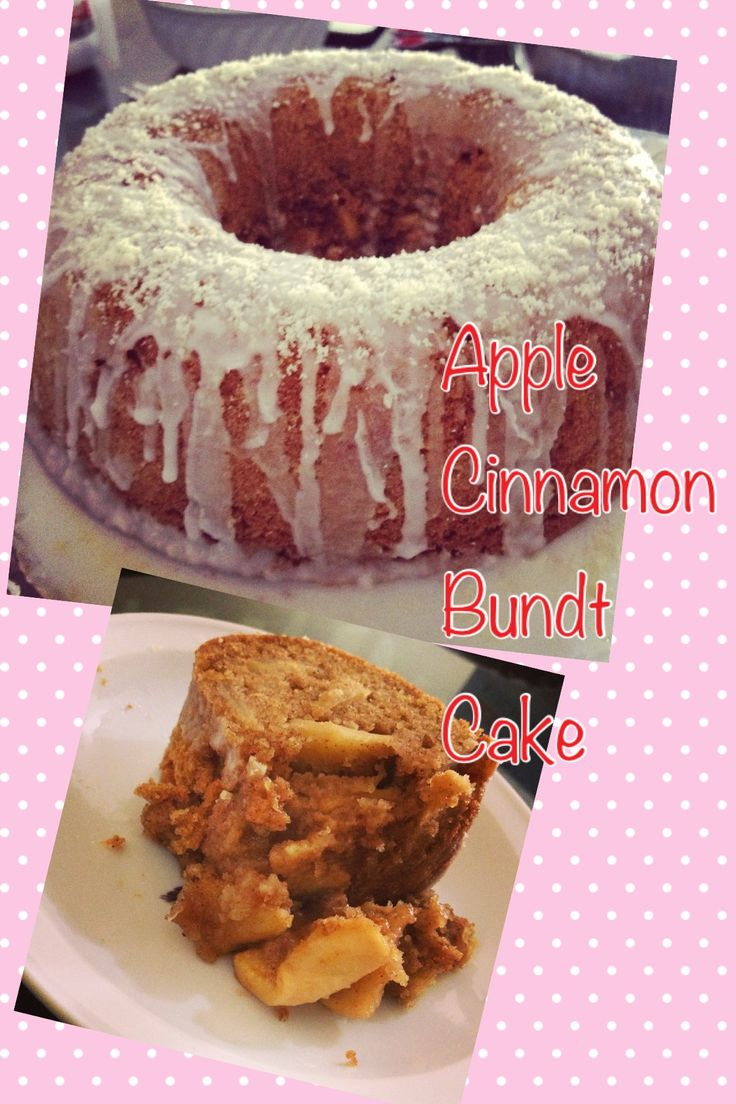 Homemade Apple Cinnamon Bundt Cake topped with Confectionery Sugar and ...