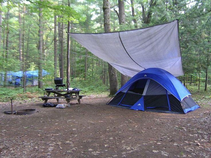 Tarp Setup For Tent Camping Summer Pinterest