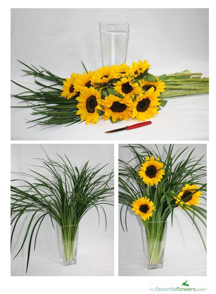 Diy sunflower arrangement wedding pinterest
