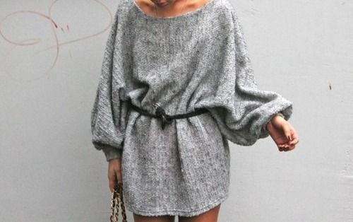 Refined Style  love baggy sweaters!
