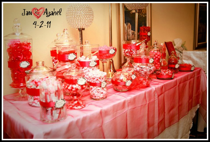 valentine's day buffet table