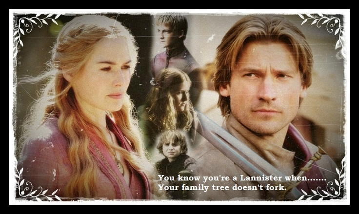Lannister family tree, Game of Thrones