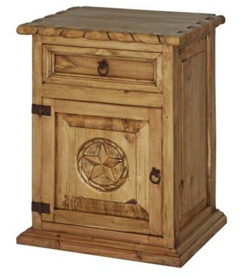 Rope Nightstand With Texas Star Rustic Furniture Pinterest