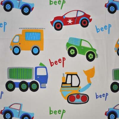 Traffic Jam - Primary - £9.50 per metre from Kids Fabrics Online Shop