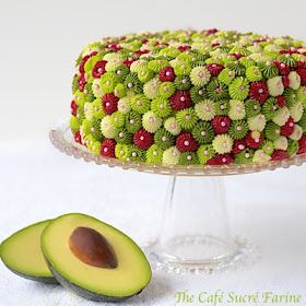 ... Avocado Cake w/ Raspberry Filling & Key Lime Buttercream Icing