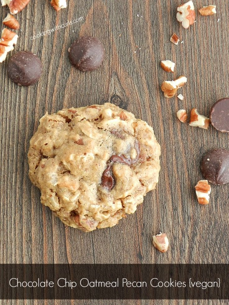 Chocolate Chip Oatmeal Pecan Cookies by Cooking With Curls