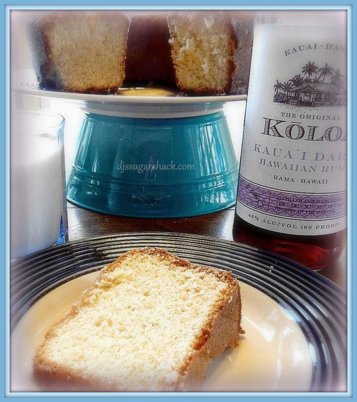 Eggnog pound cake with dark rum glaze | Christmas | Pinterest