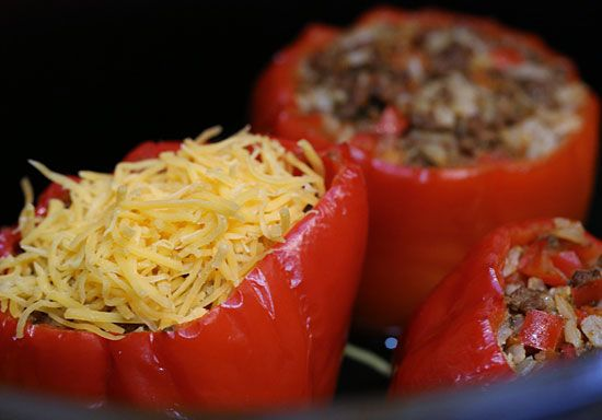 Crock Pot Picadillo Stuffed Peppers | Skinnytaste