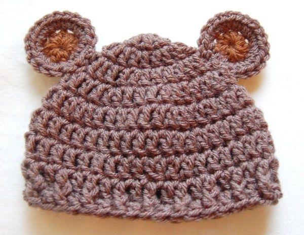 Free Crochet Bear Ear Hat Pattern : Free Crochet Baby Bear Hat Pattern Crafts Bazaar Pinterest