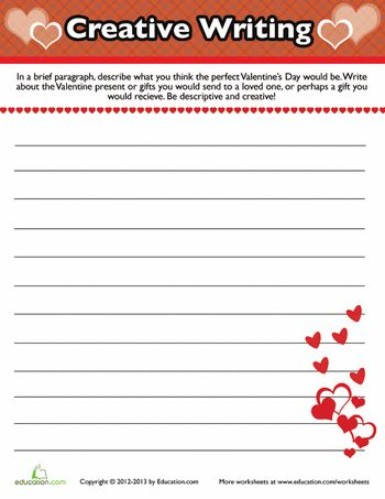 valentine writing activities for kindergarten
