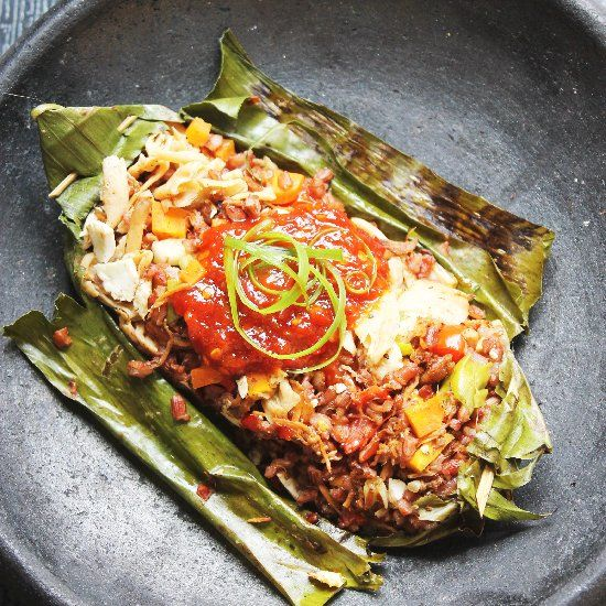 Spicy Oyster Mushroom In Banana Leaves Recipes — Dishmaps