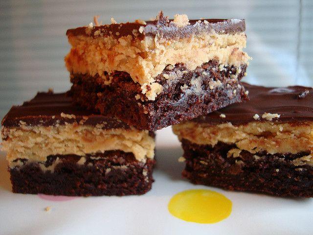 Peanut Butter Truffle Brownies Recipe — Dishmaps