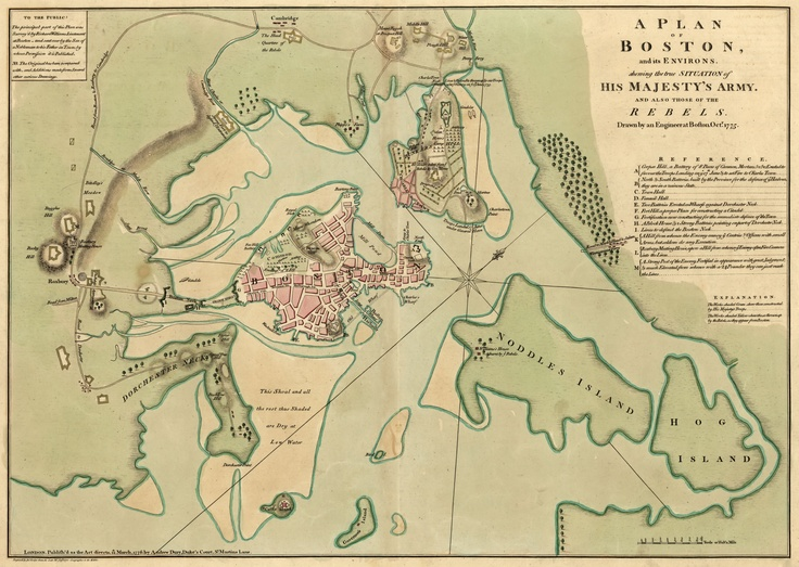 Boston 1775  Maps Of HIstory  Pinterest