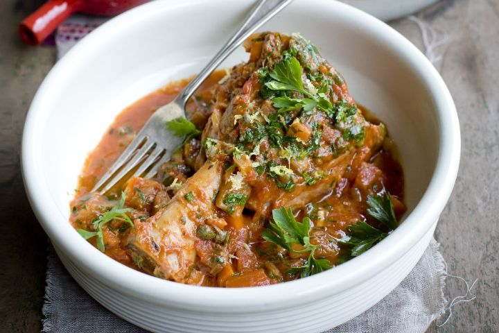 Braised Veal Shanks with Tomato & capers | Winter Warmers | Pinterest