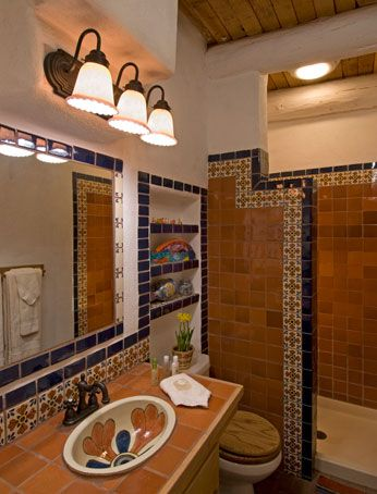 talavera tile small bathroom ideas pinterest