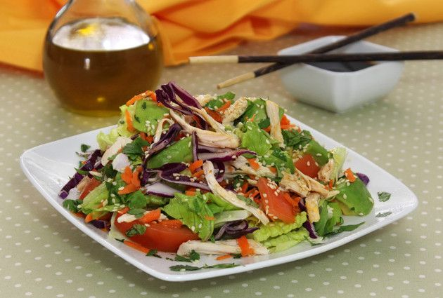 Chicken Salad with Sesame Lime Dressing | Recipe