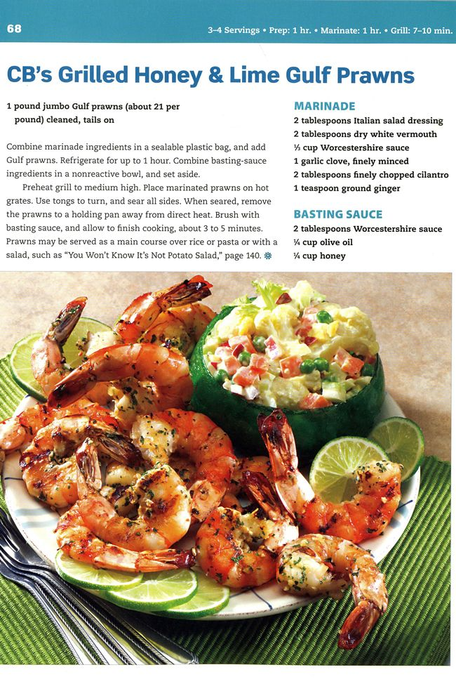 Welcome to Dover Publications - Grilled Honey & Lime Gulf Prawns