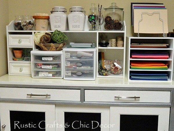 craft storage cabinet Organization