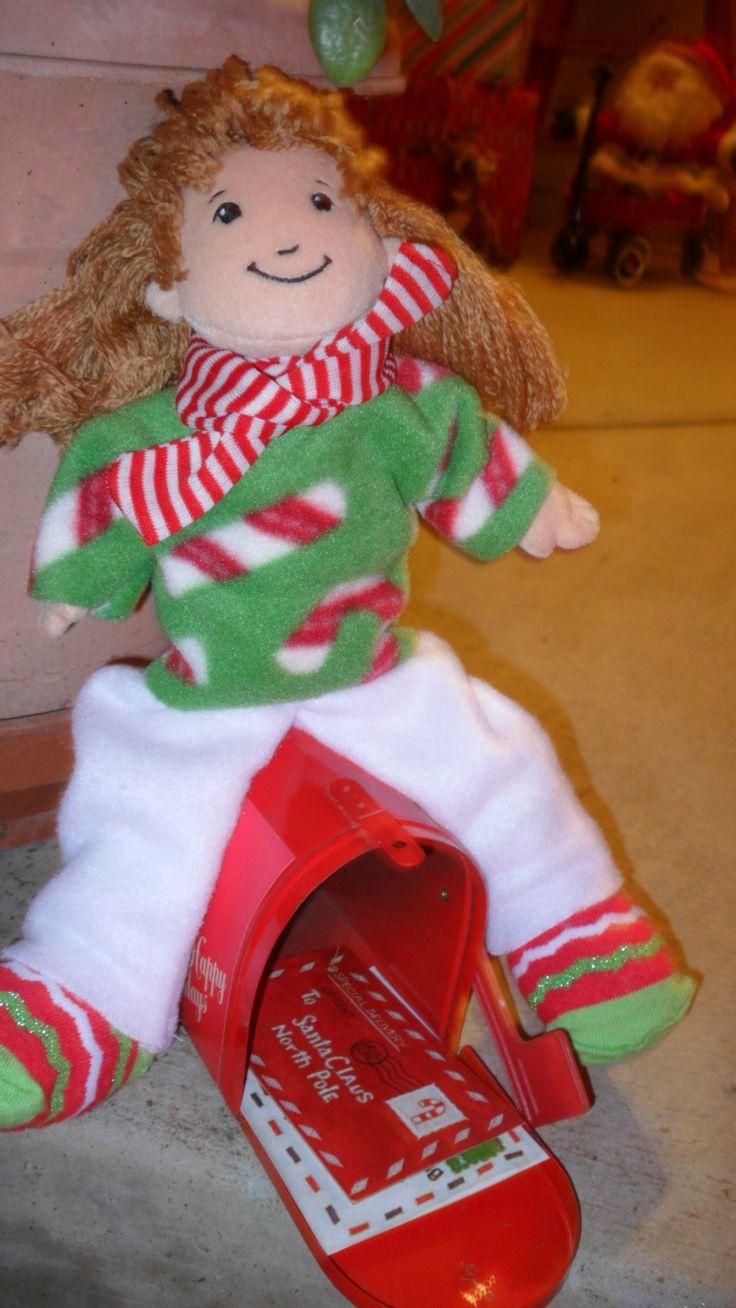 Elf with christmas mailbox 2682 1 2 santa s workshop pinterest