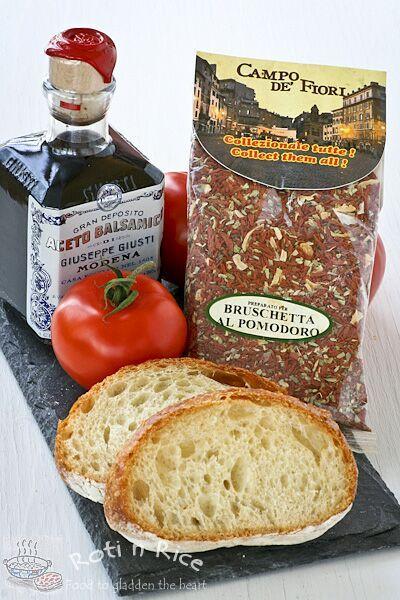 Ingredients for Bruschetta al Pomodoro