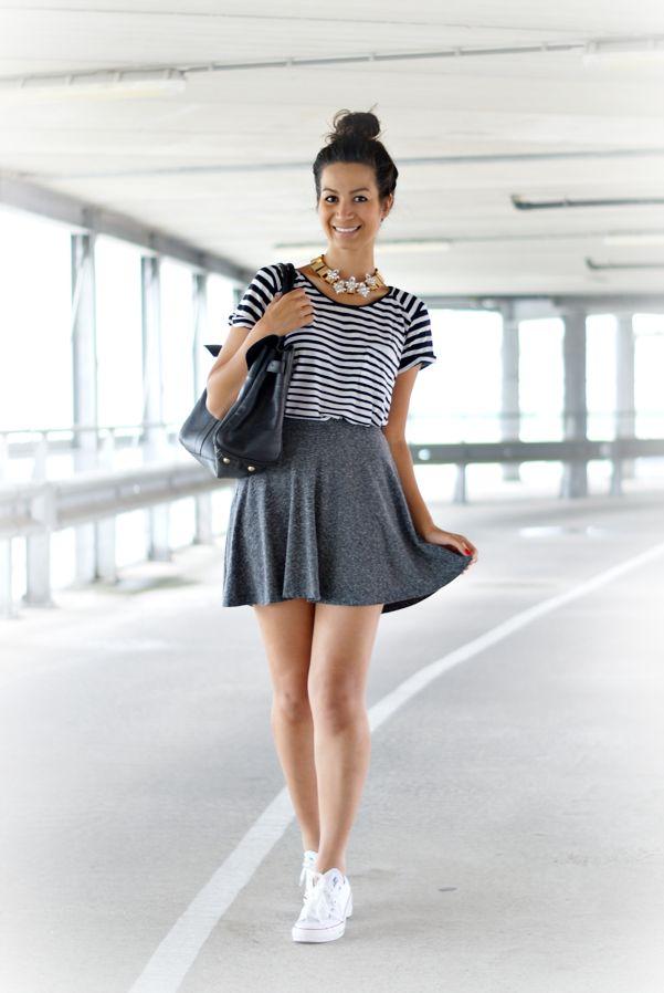 {outfit} Skater Skirt | summer | Pinterest