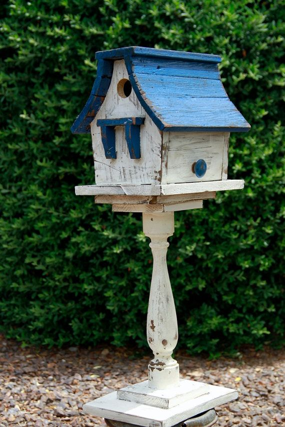 Victorian Birdhouse Antique Style Birdhouse Shabby Chic