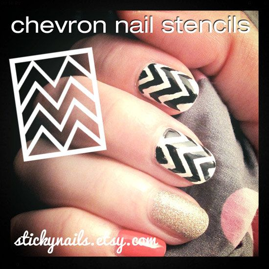Nail design stencils beautify themselves with sweet nails chevron nail art stencils prinsesfo Images