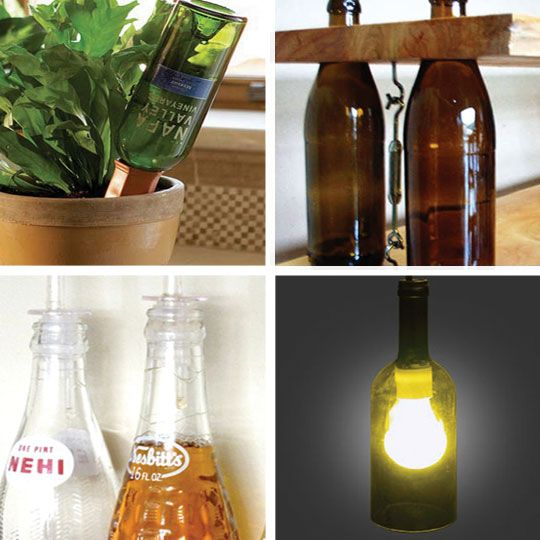 Roundup new uses for old glass bottles for Cool things to do with a wine bottle