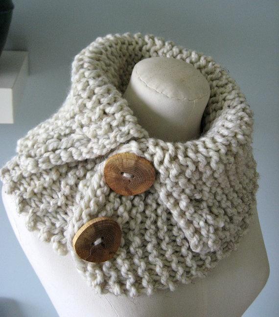 Bulky knit neck warmer Knitting Pinterest