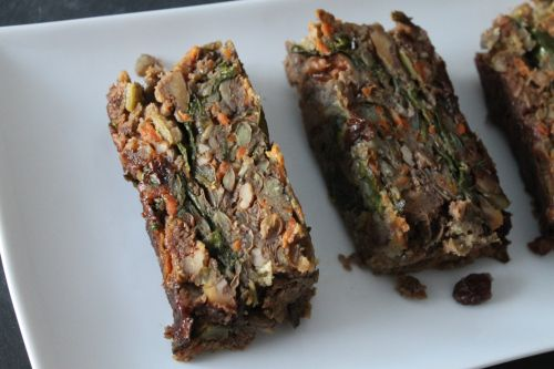 lentil walnut loaf - gotta try this. The author mentions garlic ...