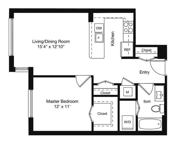 600 Sq Ft Studio 600 Sq Ft Apartment Floor Plan 600 600