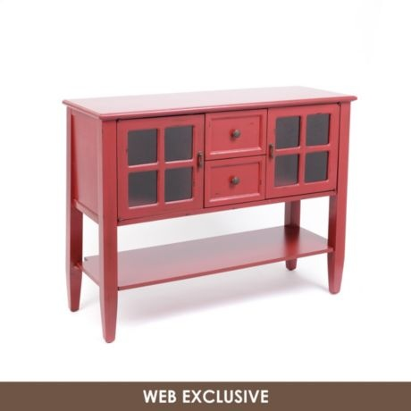 Red elliot console table kirkland 39 s console tables for Sofa table kirklands