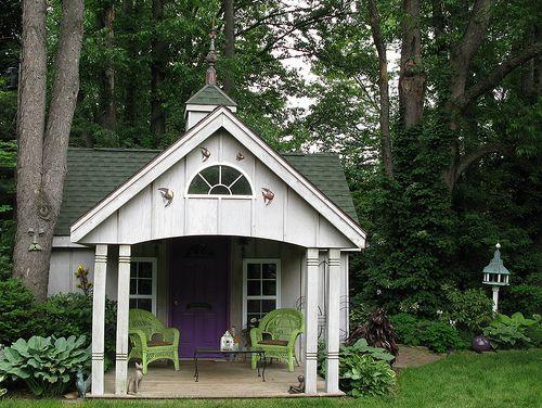 Fancy Backyard Sheds : fancy front on garden shed,,wow  garden  Pinterest