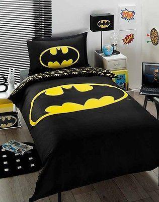 Discontinued batman boys single bed doona duvet quilt cover set licensed new - Batman bedroom furniture ...