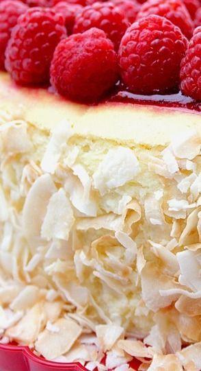 Toasted Coconut & Raspberry Cheesecake | Food, Food, Food!!! | Pinter ...