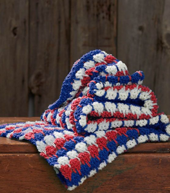 Larksfoot Crochet Afghan Pattern : Free Pattern Patriotic Larksfoot Afghan Crochet Afghans ...