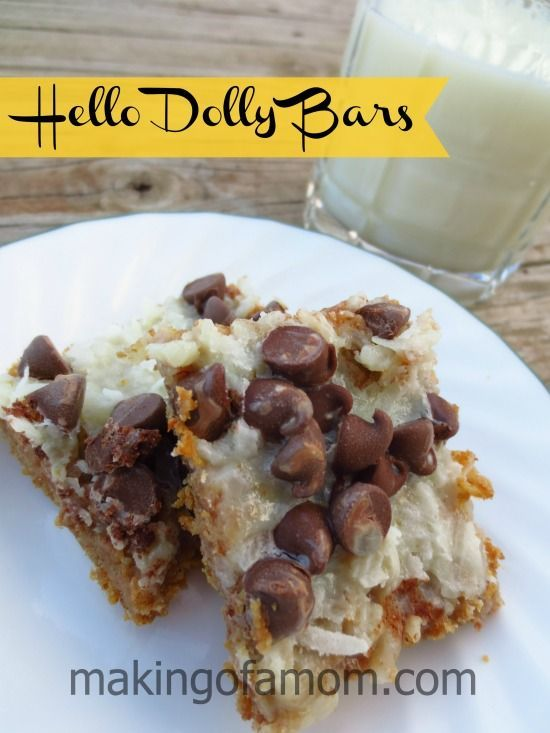 Hello Dolly Bars Recipe #recipe #cookies | Happy Place | Pinterest