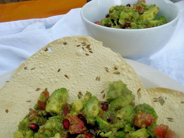 Pappadums with Avocado Pomegranate Salsa | Vegan & gluten-free | Pint ...