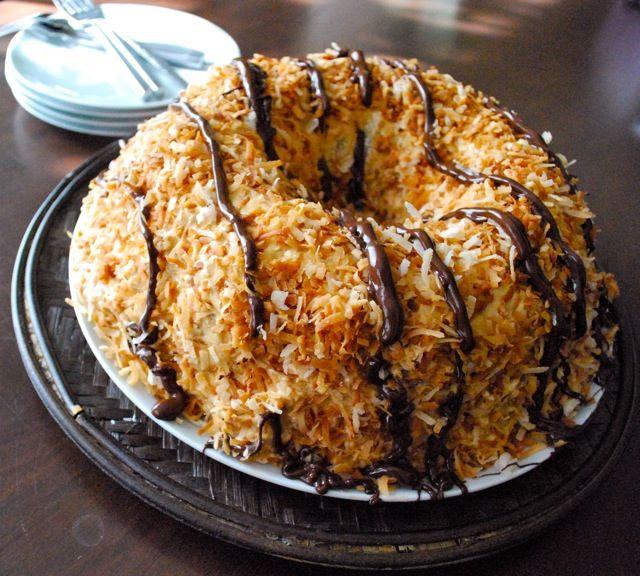 Girl Scout Cookie Samoa Bundt Cake recipe