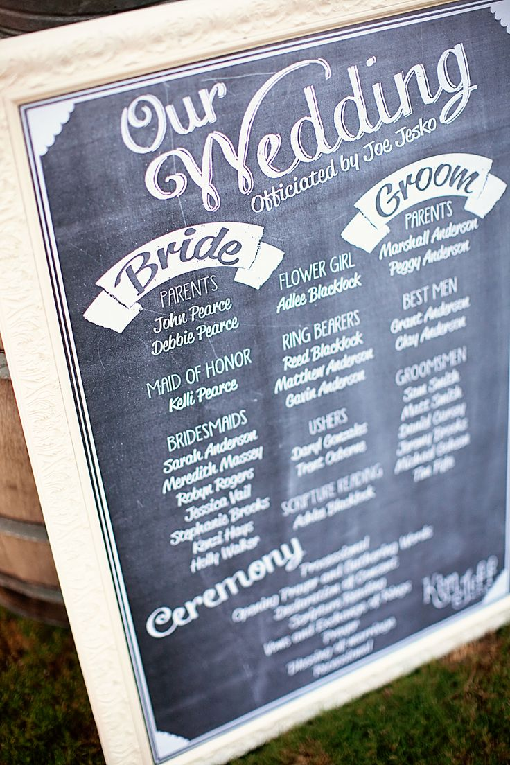 Cartel que indica a los invitados de una boda dónde sentarse.