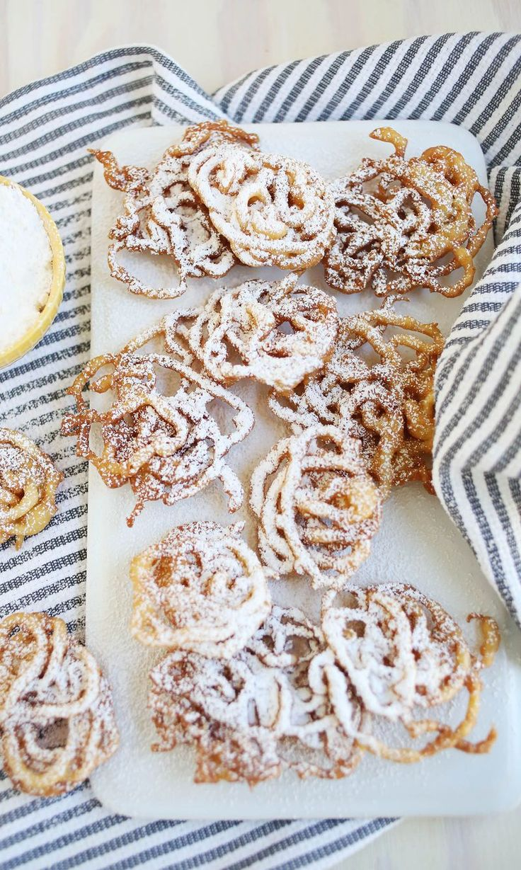Easy funnel cakes (click through for recipe)
