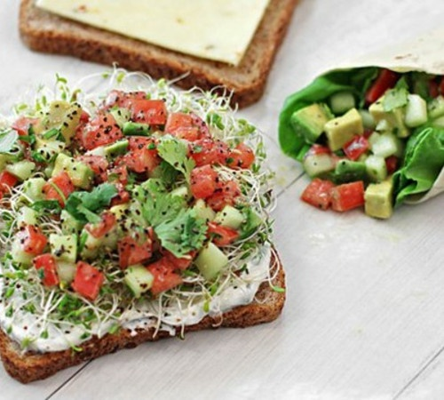 California Veggie Sandwich by Rebecca Crump: Avocado salad with yogurt ...