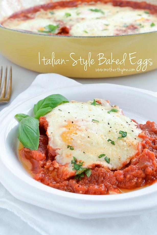 Italian-Style Baked Eggs