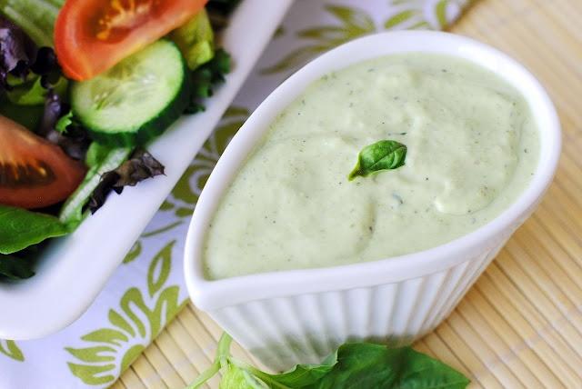 Basil Green Goddess Dressing | Meatless Meals | Pinterest