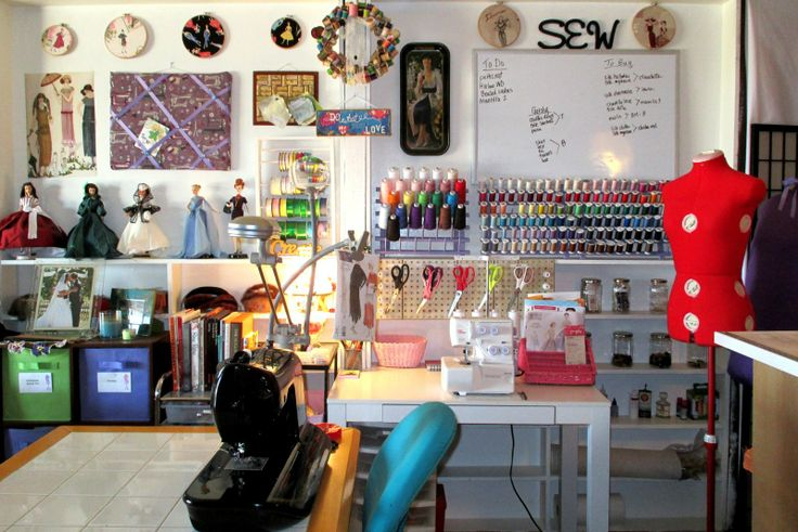 Sewing room organization ideas embroidery pinterest