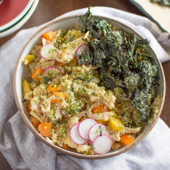Chicken Kale Rice Bowl | Recipe