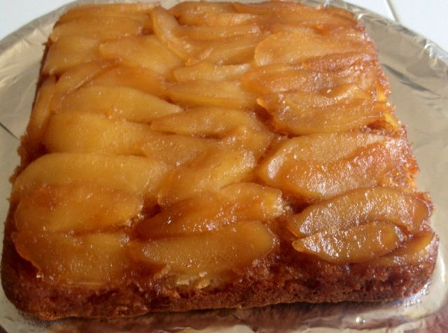 spiced rum pear upside down cake   Sweet Stuff   Pinterest