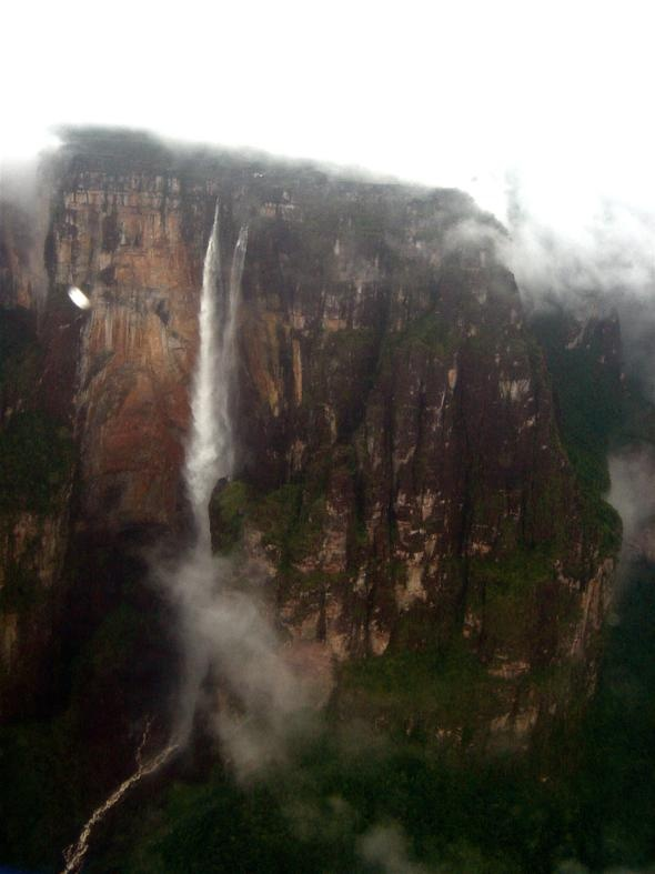 Angel Falls, Venezuela. This reminds me of Paradise Falls from UP :)