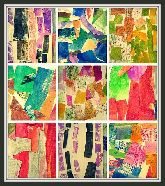 Kindergarten collages